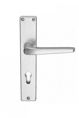 Kování-klika se štítkem EUROPA BB 72mm na klíč elox